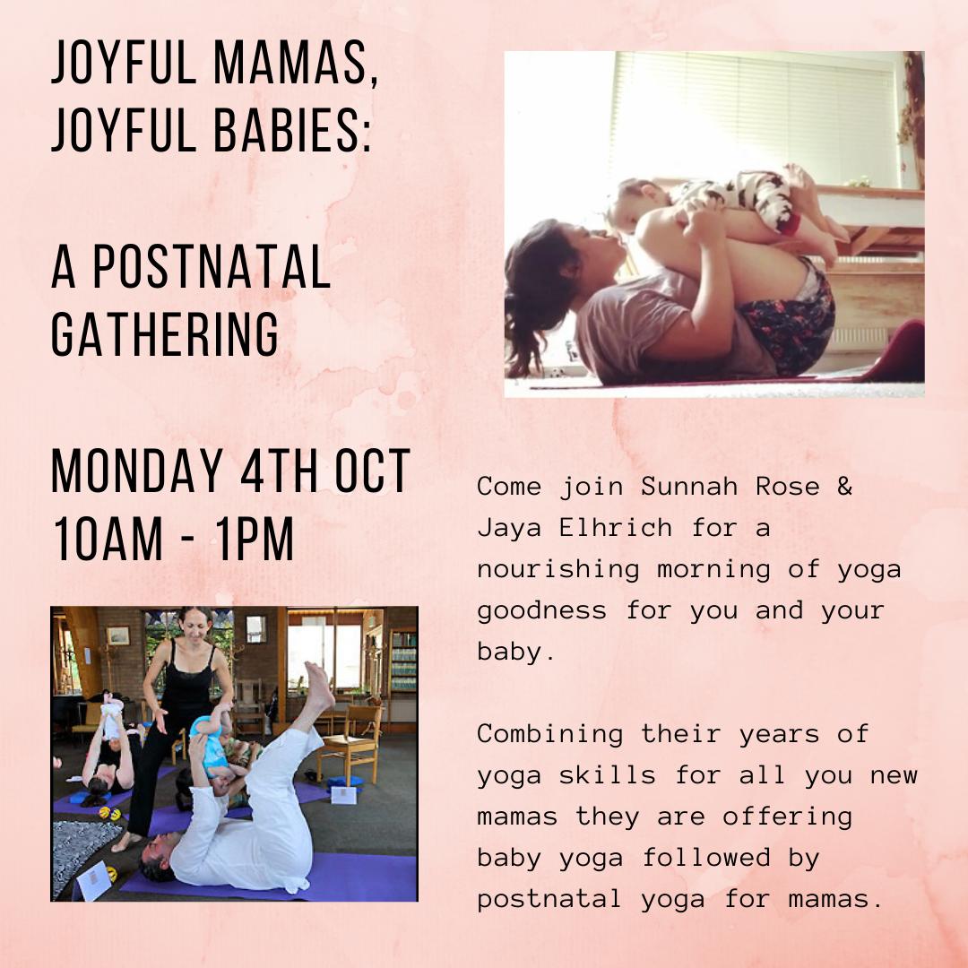 Joyful Mamas, Joyful Babies: A Postnatal Gathering on October 4th